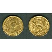 Flavius Julius CONSTANTIUS II.  Gold Solidus  ss+  RAR!  [347-355]