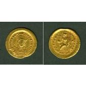 THEODOSIUS II.  Gold Solidus  ss-vz/vz  selten!  [430-440]