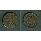 Russland 2 Kopeken 1823 EM  ss