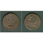 Russland 1/2 Kopeke (Denga) 1754  s