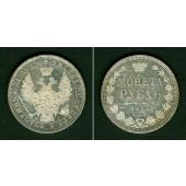 Russland 1 Rubel 1853 HI  vz+  PRACHT!