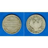 Russland 1/2 Rubel (Poltina) 1818 SPB  ss/s  selten
