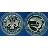 Russland / GUS  1 Rubel 1995  Delphin  SILBER  PP  selten