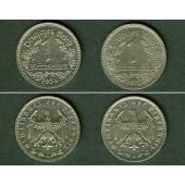 Lot:  DEUTSCHES REICH  2x 1 Reichsmark (J.354)  vz  [1934-1935]