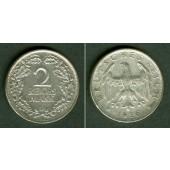 DEUTSCHES REICH 2 Reichsmark 1926 D  (J.320)  ss+