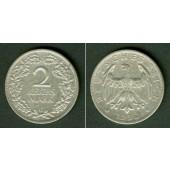 DEUTSCHES REICH 2 Reichsmark 1926 G  (J.320)  ss