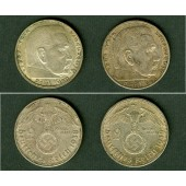 Lot: DEUTSCHES REICH  2x SILBER 2 Reichsmark (J.366)  vz  [1938-1939]