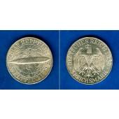 DEUTSCHES REICH 3 Reichsmark (Zeppelin) 1930 G (J.342)  vz-st  selten