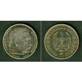 DEUTSCHES REICH 5 Reichsmark 1935 D (J.360)  ss+