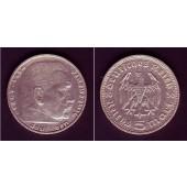 DEUTSCHES REICH 5 Reichsmark 1936 D (J.360)  ss+