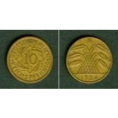 DEUTSCHES REICH 10 Reichspfennig 1934 G (J.317)  ss+  selten