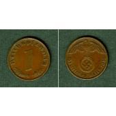 DEUTSCHES REICH 1 Reichspfennig 1936 G (J.361)  vz+  selten
