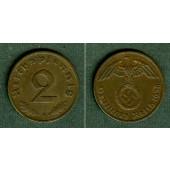 DEUTSCHES REICH 2 Reichspfennig 1936 F (J.362)  vz  selten!