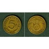 DEUTSCHES REICH 5 Reichspfennig 1936 D (J.363)  ss+  selten!