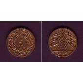 DEUTSCHES REICH 5 Reichspfennig (J.316) 1925 F  ss-vz
