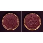 Notgeld SACHSEN Porzellan 10 Mark 1920  vz-st  selten!